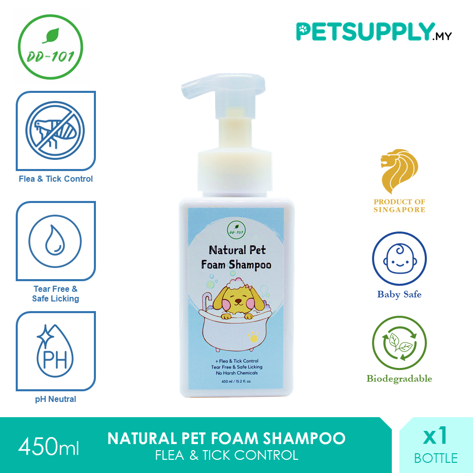 DD101 Natural Pet Foam Shampoo 450ml [Cat Dog Syampu Kucing Anjing - Petsupply.my]