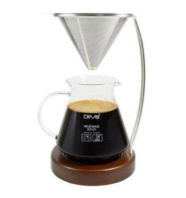Hand Brew Set/ Driver Pour Over Kit with Collectible Edition Metal Filter Server (Taiwan)