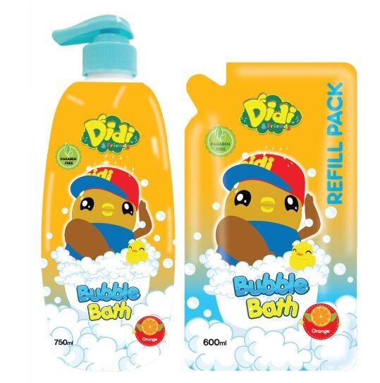 (Value Combo) Didi and Friends Orange Head to Toe Bubble Bath [750ml + 600ml]