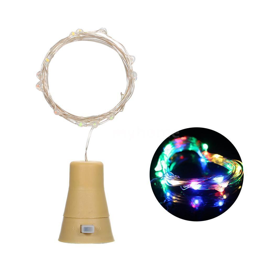 Lighting - 3V 9W 1.5m 15LED Wine Bottle Lights with Cork Starry Fairy Light Creative Copper Wire String Bottle - 1.5M & MULTICOLOR / 1.5M & WARM WHITE / 1.5M & WHITE / 1M & MULTICOLOR / 1M & WARM WHITE / 1M & WHITE