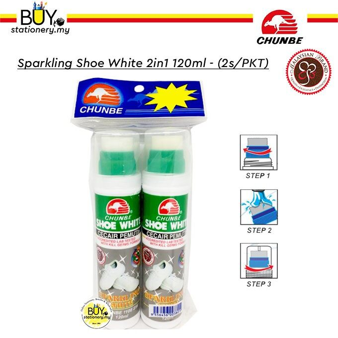 Chunbe Sparkling Shoe White 2in1 120ml - (2s/PKT)