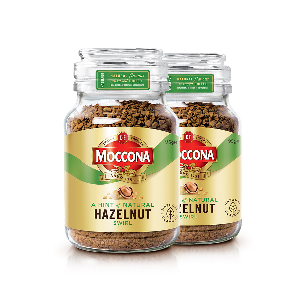 Moccona Roasted Hazelnut Freeze Dried Coffee 95g x 2 Jar