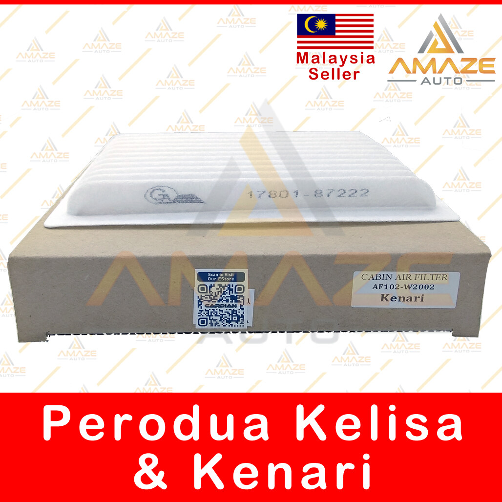 Air-Cond Cabin Filter for Perodua Kenari & Kelisa (OEM No: 17801-87222)