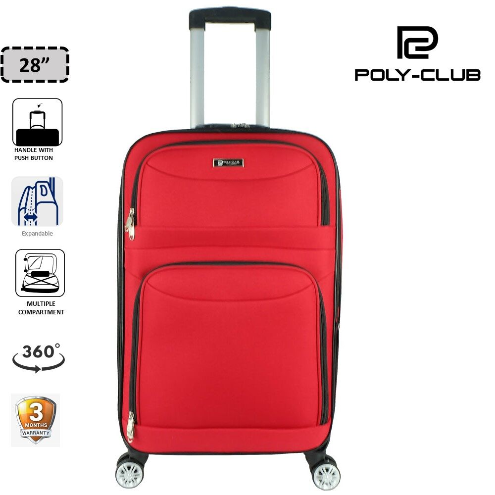 Poly-Club BE9858 28inch 4W EVA Expendable Softcase Luggage- Red