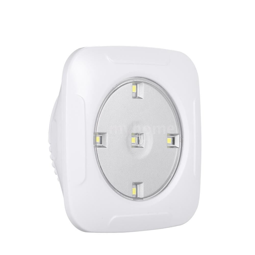 Lighting - 4.5v 1W 5LED Square Puck Light 3 Pack with Remote Controller WIRELESS Touch Sensor Control Night - WHITE