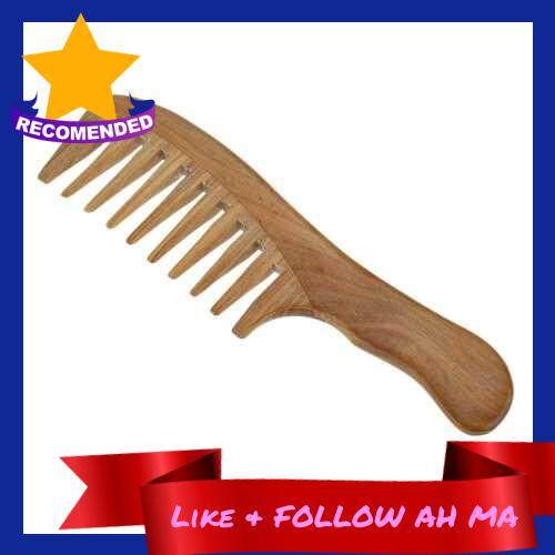 Best Selling 1 Pc Wooden Comb Natural Green Sandalwood Handmade Wide Tooth Wooden Comb Massage Comb Handmade Comb Hair Care (Standard)
