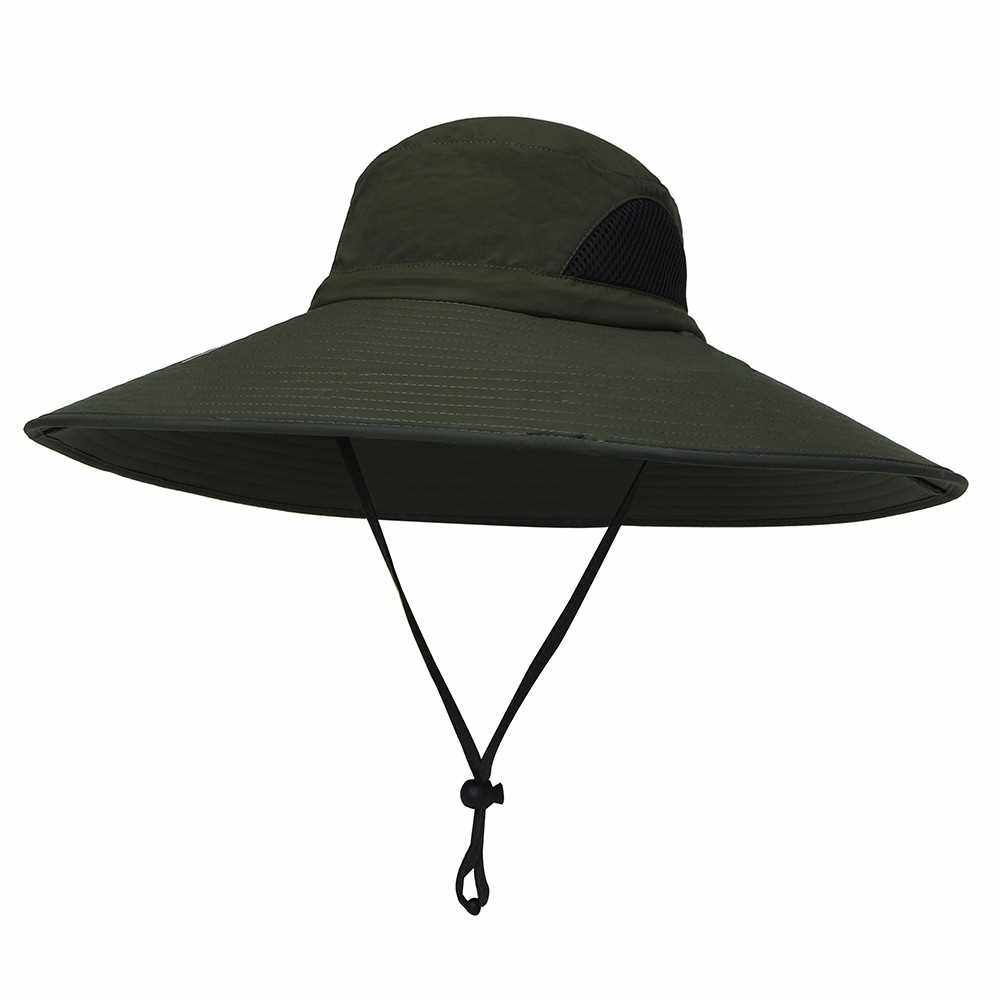 Best Selling Outdoor Boonie Hat Wide Brim Breathable Hunting Fishing Safari Sun Hat Cap (Army Green)
