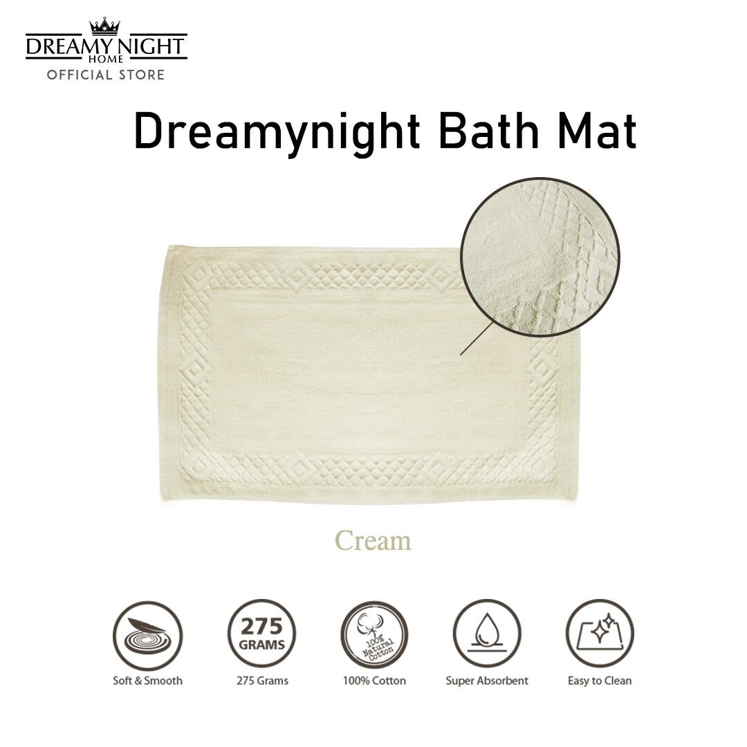 Dreamynight Home 100% Cotton Super Absorbent Bath Mat 275g 51cm x 78cm
