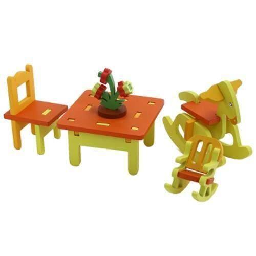 MUWANZI 3D WOODEN PUZZLES CHILDREN INTELLIGENCE GAME TOYS (ORANGE) toys education