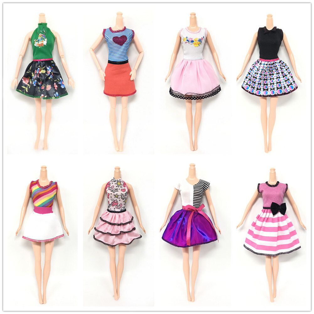Doll's Fashionable Clothing Set Casual One-piece Dress doll Style Random