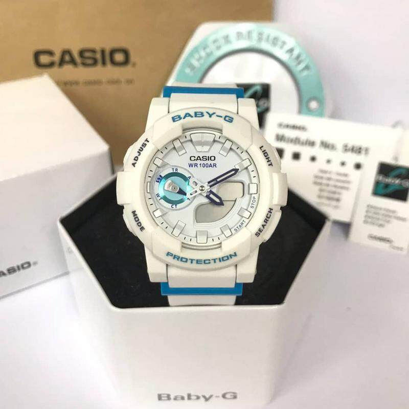 (Ready Stock) Original Casio Baby G_GA-110DC-1A Men Sport Watch Duo W/Time 200M Water Resistant Shockproof and Waterproof World Time LED Auto Light Wist Sports Watches with 4 months Warranty BGA180/BGA-180