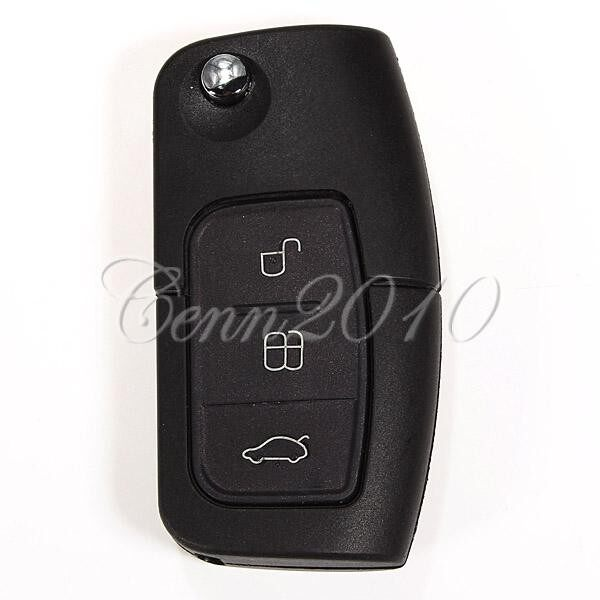 Tyres & Wheels - Remote Flip Key Case Shell Cover 3 Button For Ford BF Falcon Territory Mondeo - Car Replacement Parts