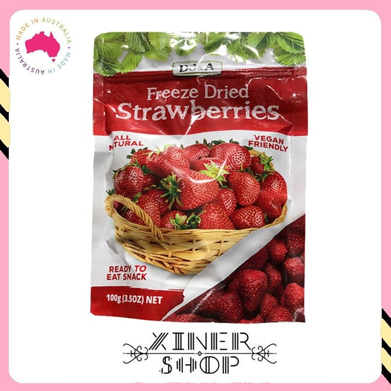 [Pre Order] DJ&A Freeze Healthy Snack Dried Strawberries ( 100g ) (Import from Australia)