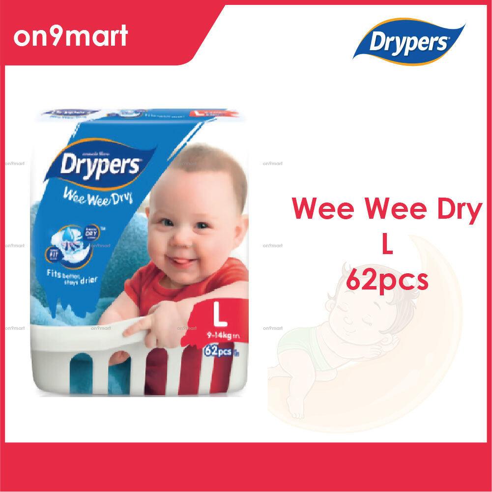 Drypers Wee Wee Dry L 62pcs Tape