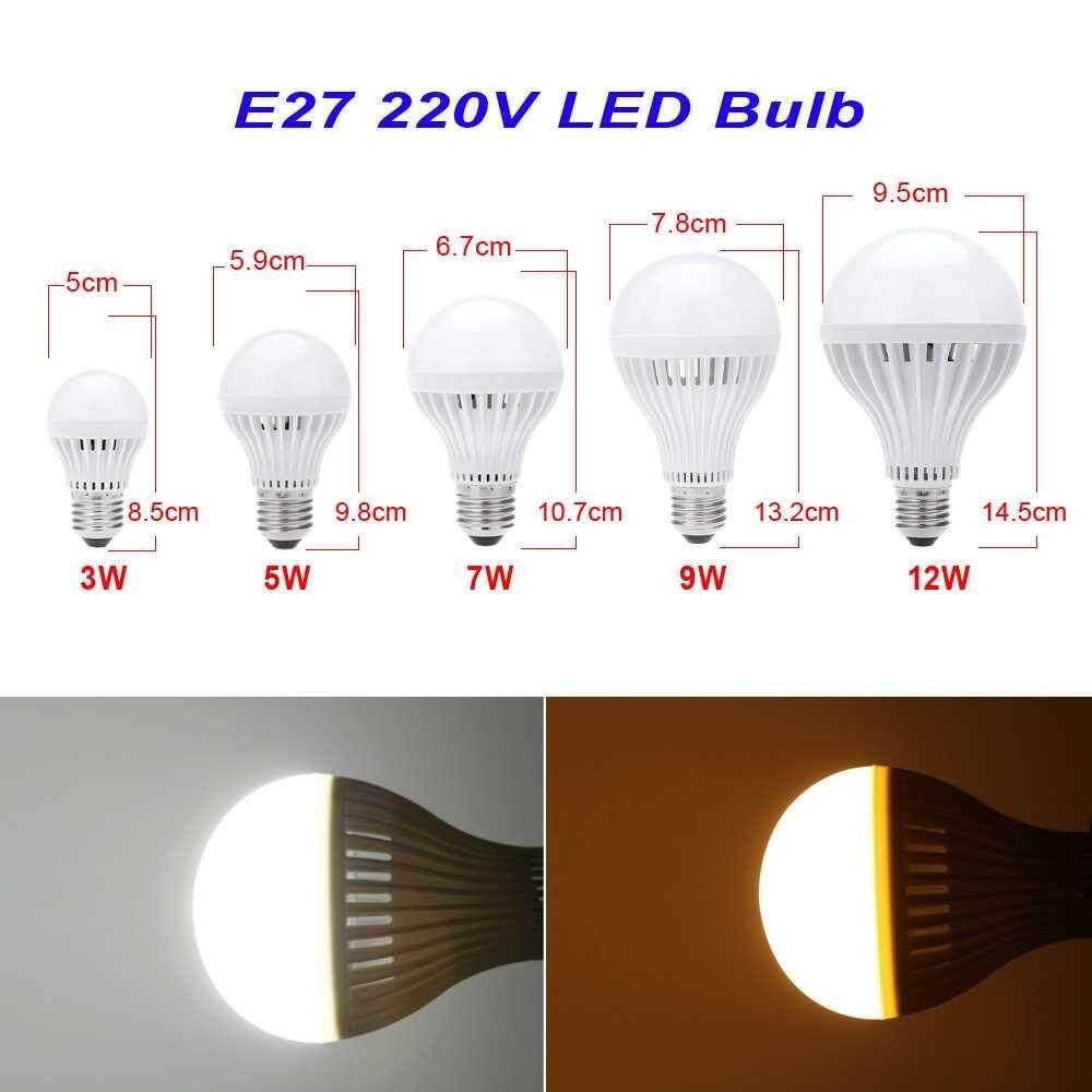 E27 9W 5730 LED Bulb Lamp Light Super Bright Energy Saving 220V