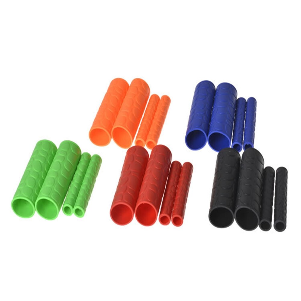 Moto Accessories - Universal 1 Pair 106MM Motorcycle handlebar Grips Cover Motorcycle Handle - BLACK / ORANGE / RED