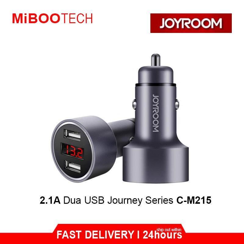 [Miboo] Joyroom 2.1A 2U Dual USB LED Digital Display Charge Voltage Metal Car Charger - GREY