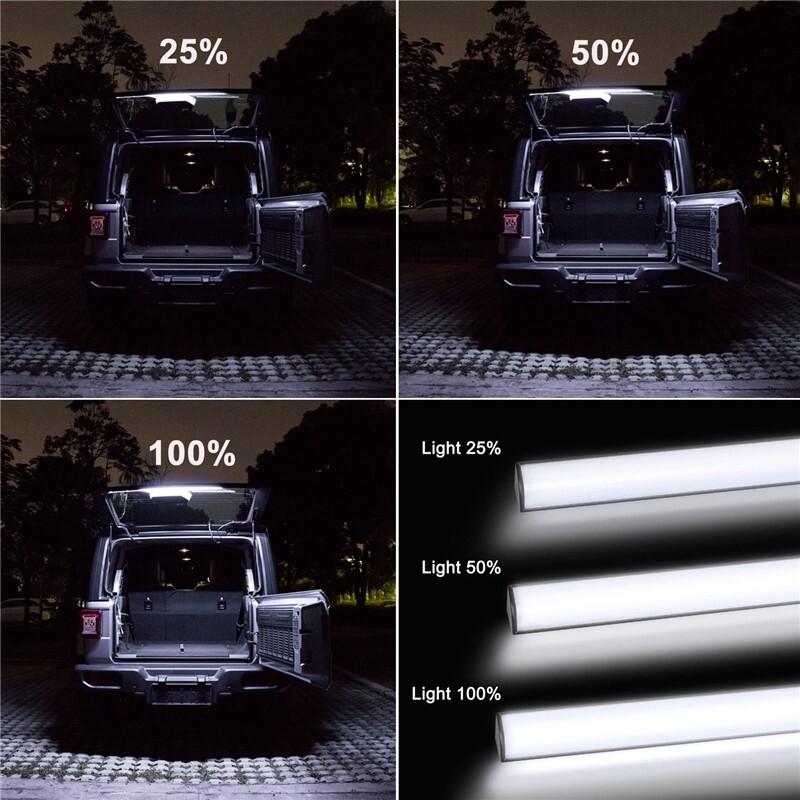 Car Lights - LED Light Bar for Jeep Wrangler JK JL 2007- 20W DC12V IP67 3000 Lumens PVC dayshopping4 - Replacement Parts