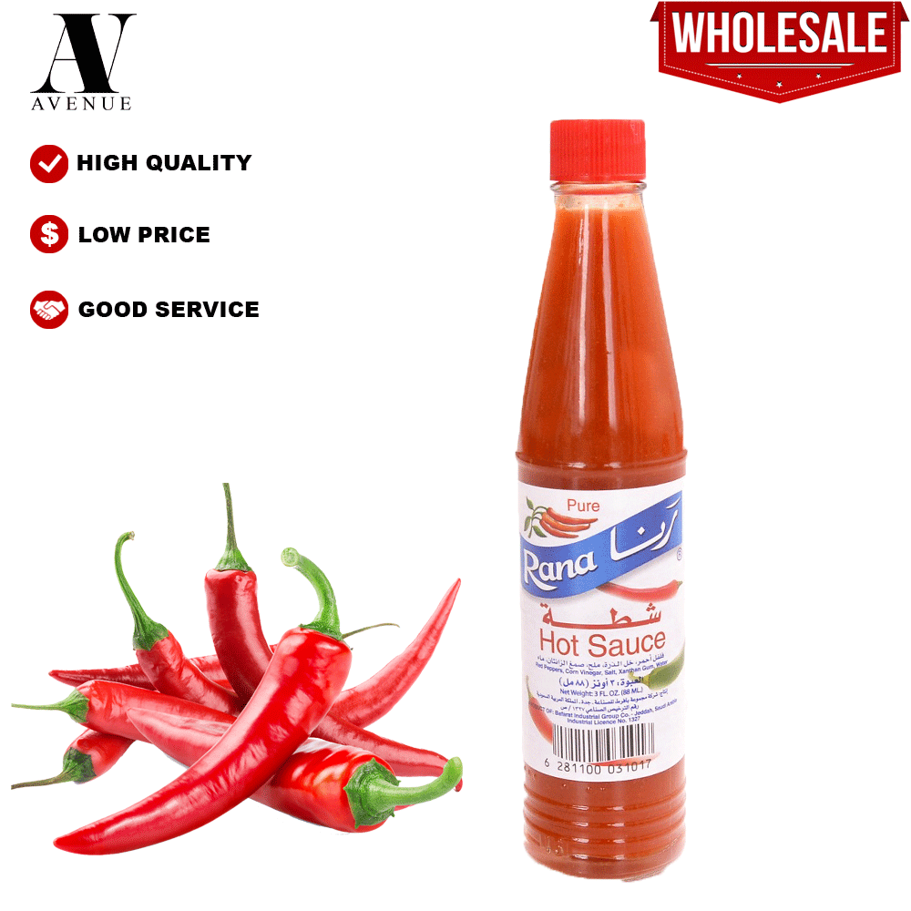 Rana Hot Sauce Large  100 ML sos cili شطة رنا