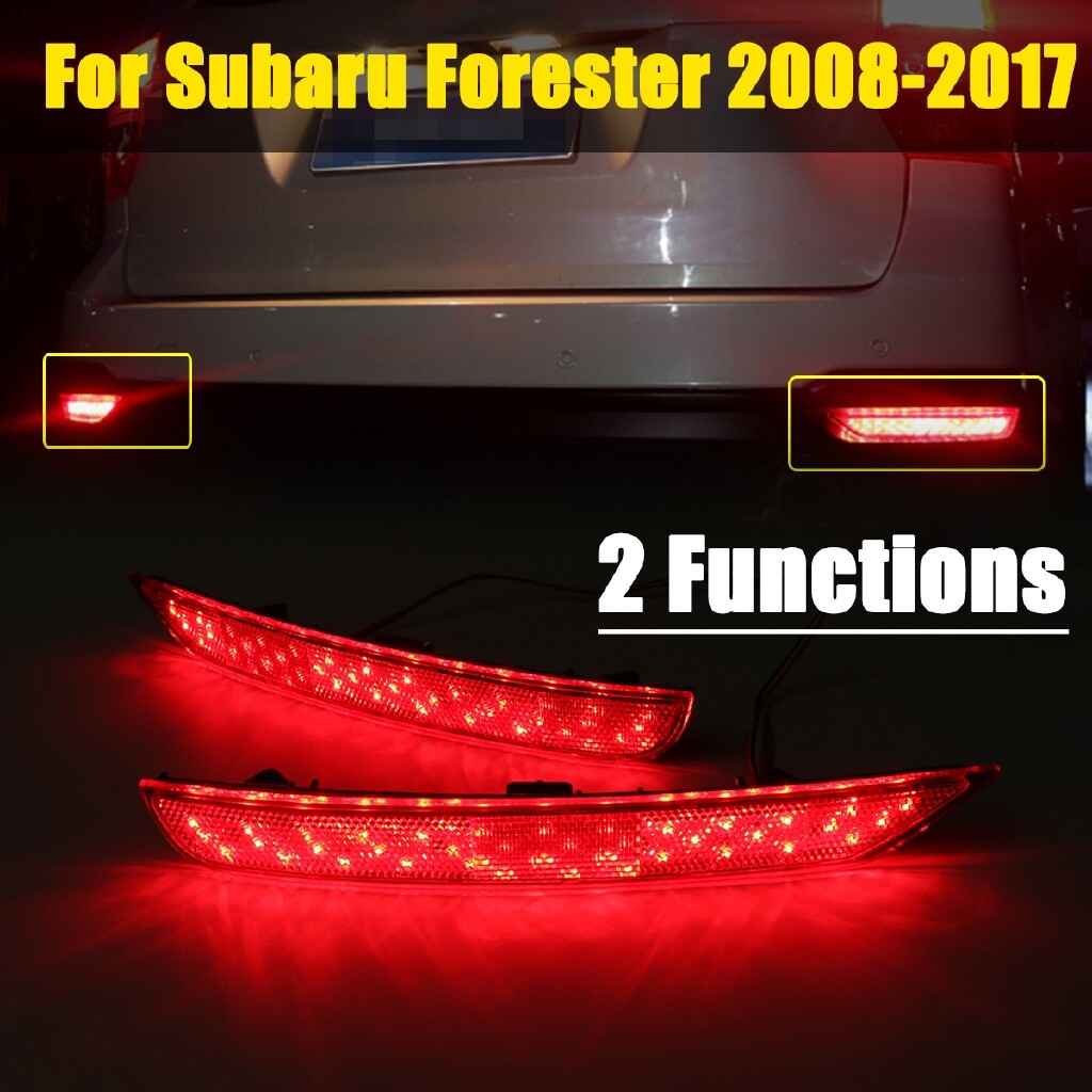 Car Lights - 2 PIECE(s) Red LED Rear Bumper Brake Stop Tail Fog Light For Subaru Forester 2008-16 - Replacement Parts