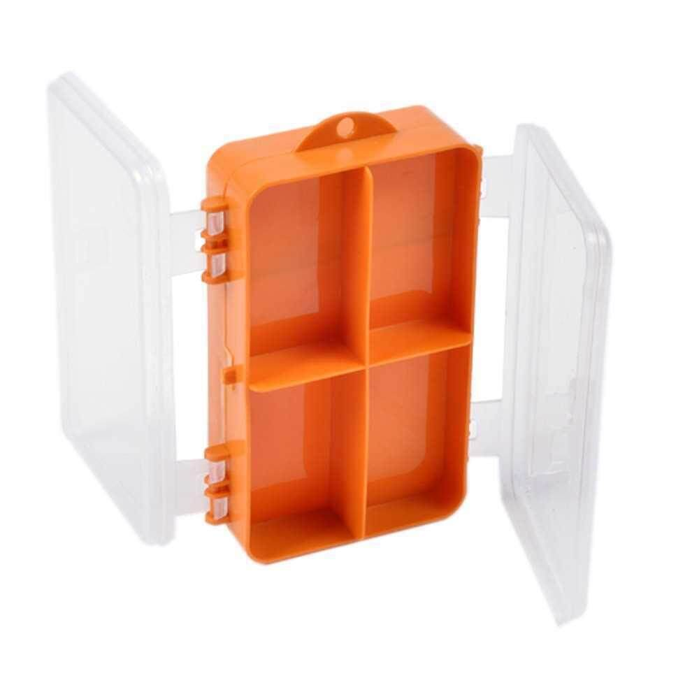 Double Sided Transparent Visible Plastic Fishing Lure Hook Tackle Box 9 Compartments