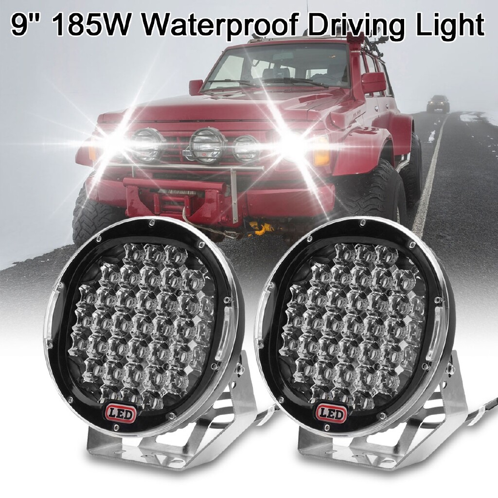 Engine Parts - 9 185W LED Work Fog Light Spot Off-road Driving Lamp Car Truck SUV Waterproof - Car Replacement