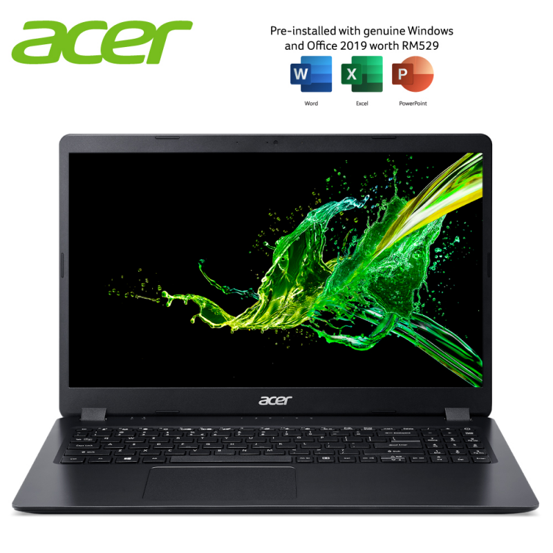 ACER ASPIRE 3 A315-56-36X5 LAPTOP INTEL CORE i3-1005G1 4GB DDR4 256GB SSD INTEL UHD W10 15.6