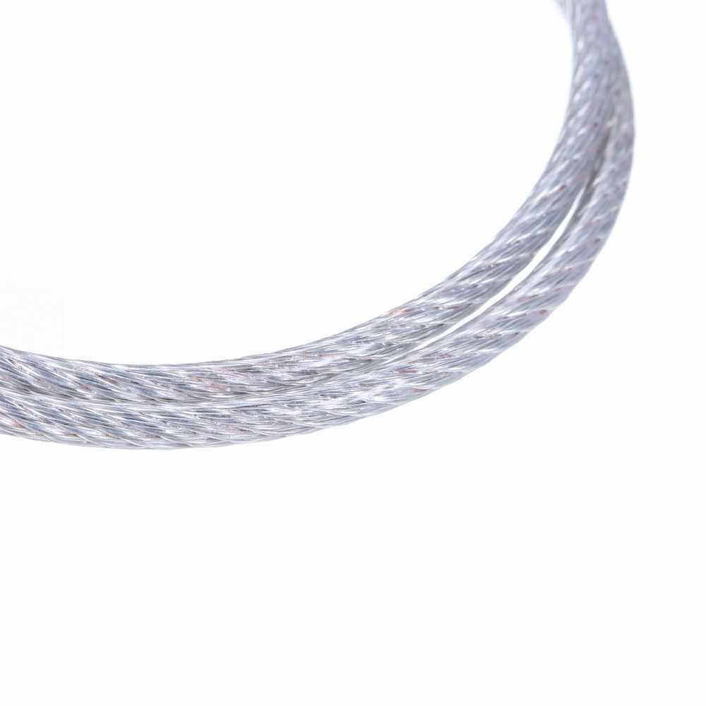 10Pcs 4mm Safety Cable Steel Wire Stage Light Safety Ropes (2)