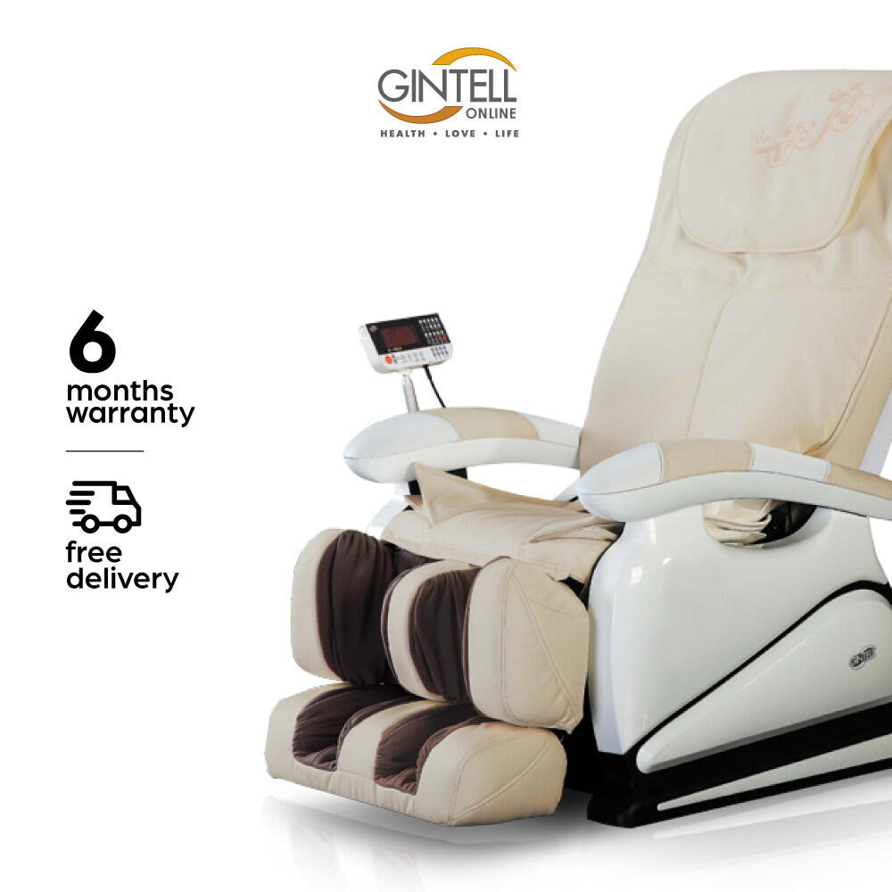 [FREE SHIPPING] GINTELL G-Pro Gold Massage Chair (Showroom Unit)-Ivory color