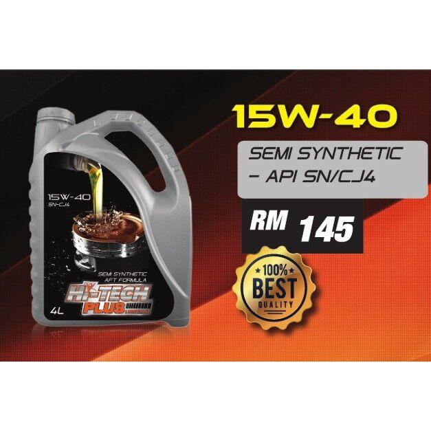 Hi-Tech Plus Lubricant Engine Oil Semi-Synthetic 15W-40 4Liter