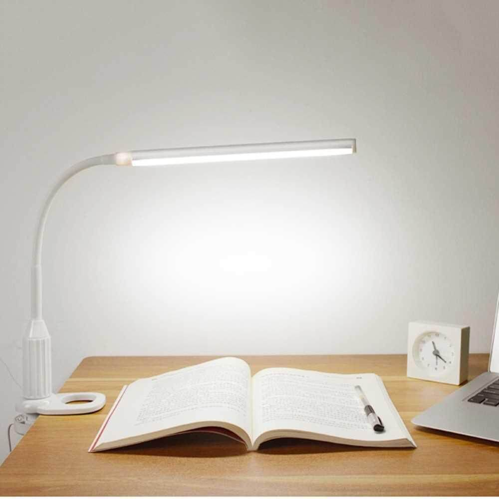 5W 24 LEDs USB Powered Eye Protection Clamp Clip Light Table Lamp (white)