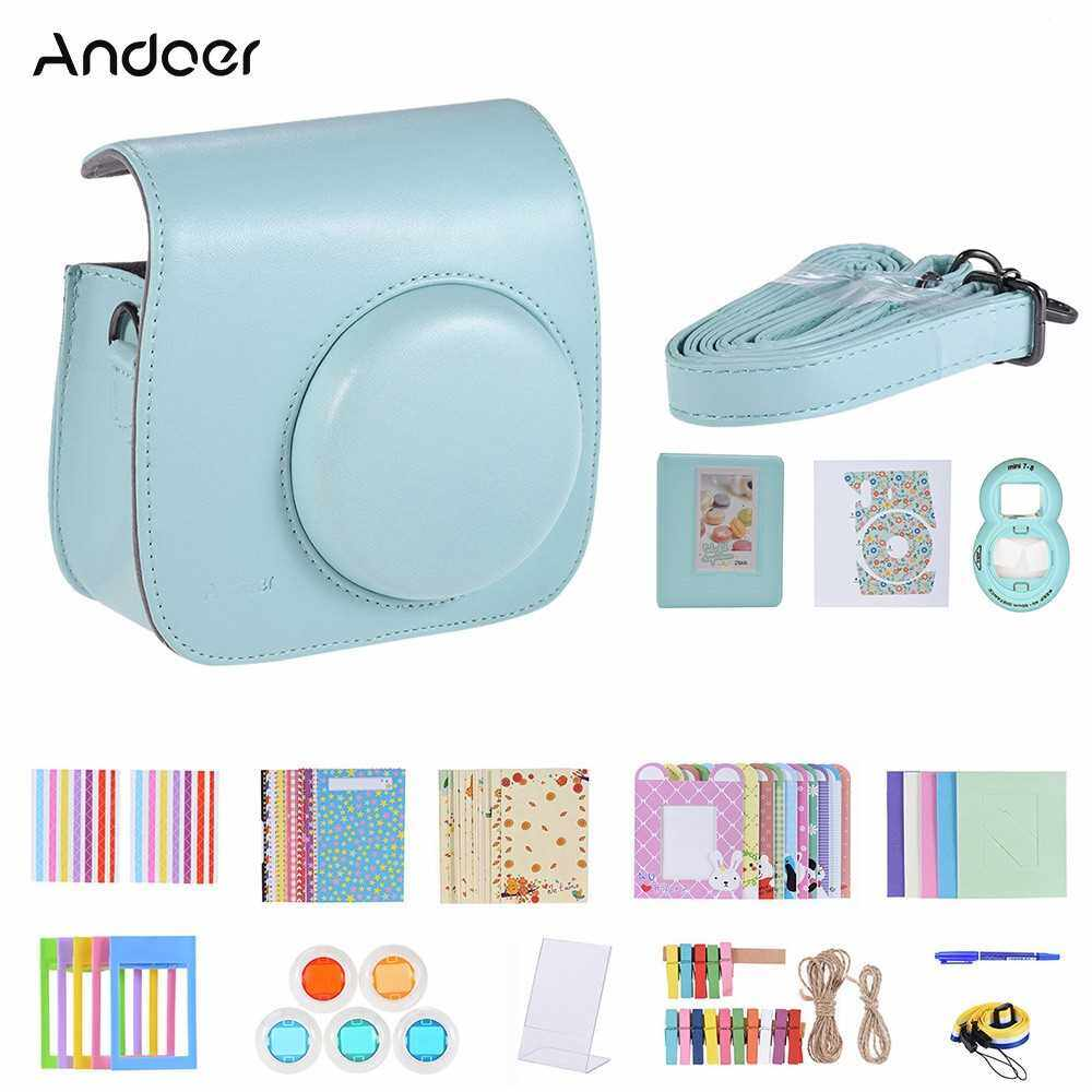 Andoer 14 in 1 Instant Camera Accessories Bundle Kit (Red Blue)