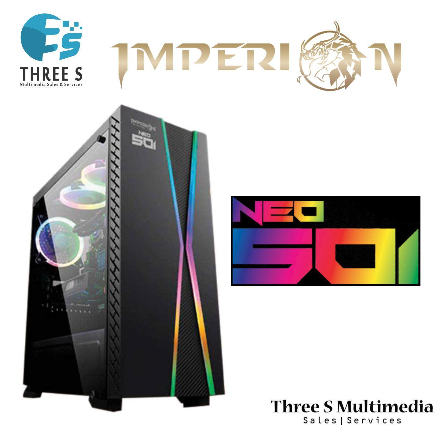 IMPERION NEO-501 DESKTOP CASING WITH RGB LIGHTING