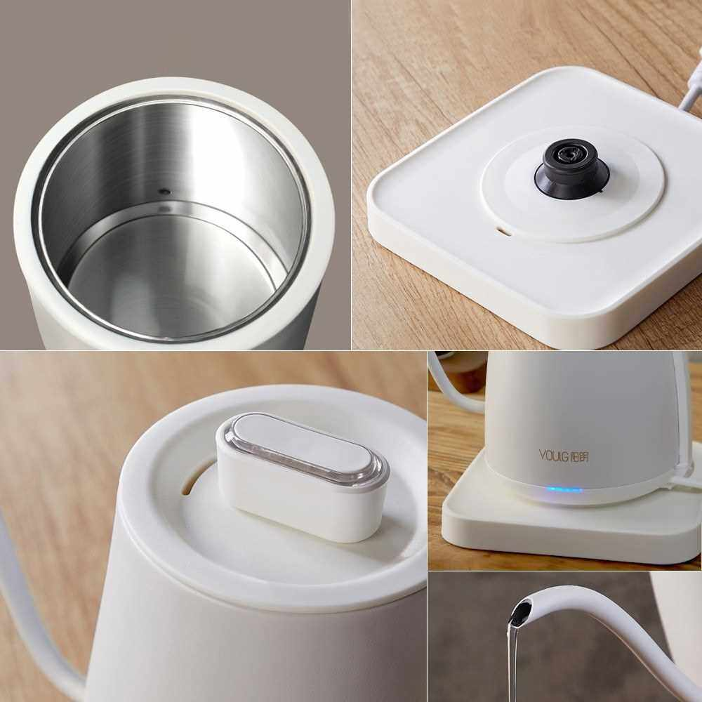 Best Selling Xiaomi YOULG Water Kettle Electric Coffee Pot Instant Heating Temperature Control Auto Power-off Protection Wired Teapot 220V (White)