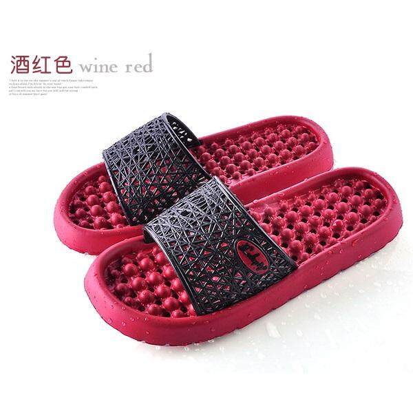 Anti Slippery Bathroom/Indoor Slipper with HOLE - Red Wine