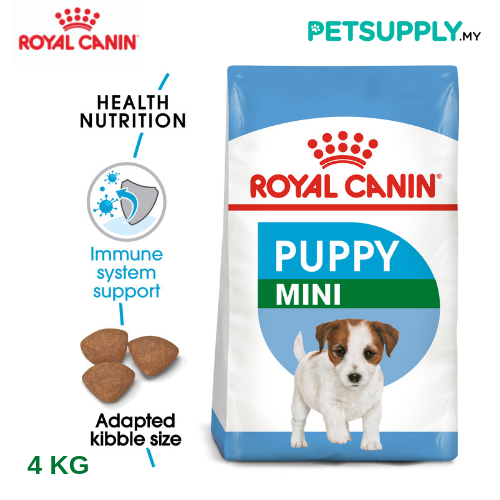 Royal Canin Dry Dog Food Mini Junior 4kg [makanan anjing - PETSUPPLY.MY]