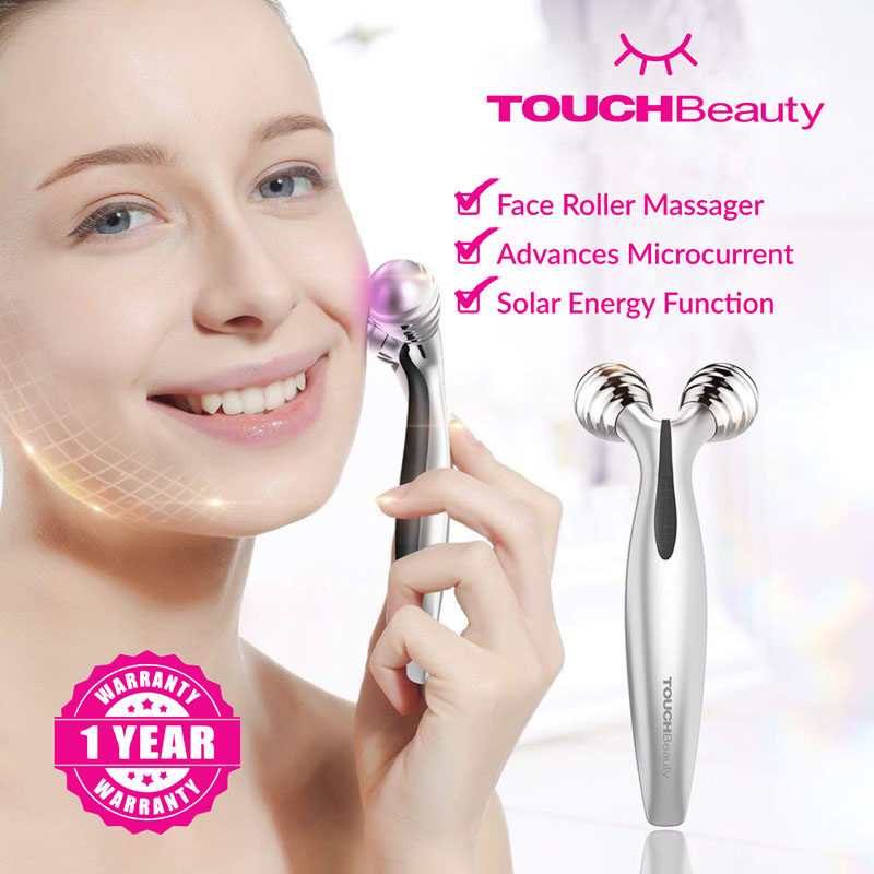 TOUCHBeauty Electronic Lifting 3D Roller TB-1682 portable waterproof face roller massager machine/facial care and body care/Efficiently lifts and tights skin fighting anti-aging signs/3D Roller Design and 360 Degree Rotational /skin care