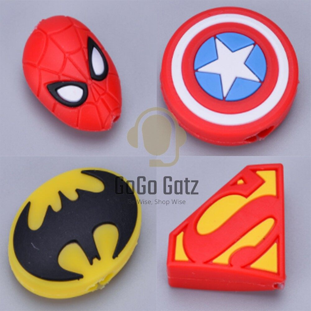 {Ship Out Within 24 Hours} Cable Cover *SuperHero - Iphone, Huawei, Samsung, Oppo, Vivo, Xiaomi