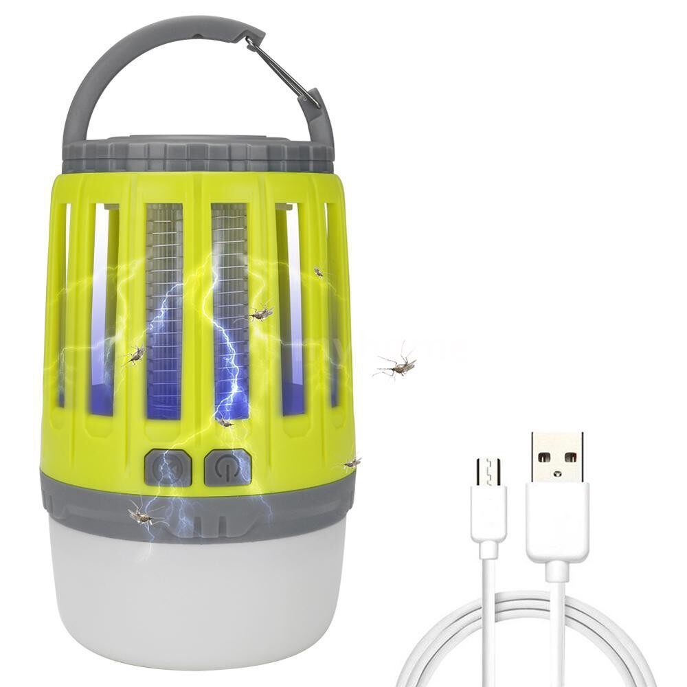 Outdoor Lighting - USB Rechargeable Mosquito Killing Lamp PORTABLE Tent Light Built-in 1800mAh Li-ion Battery Bug - GREY / YELLOW / GREEN