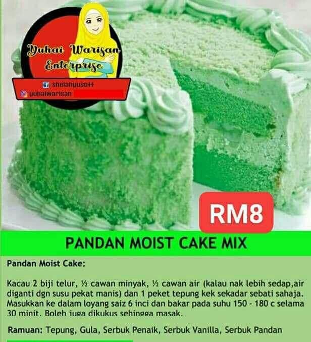 Pandan Moist Cake Mix Flor