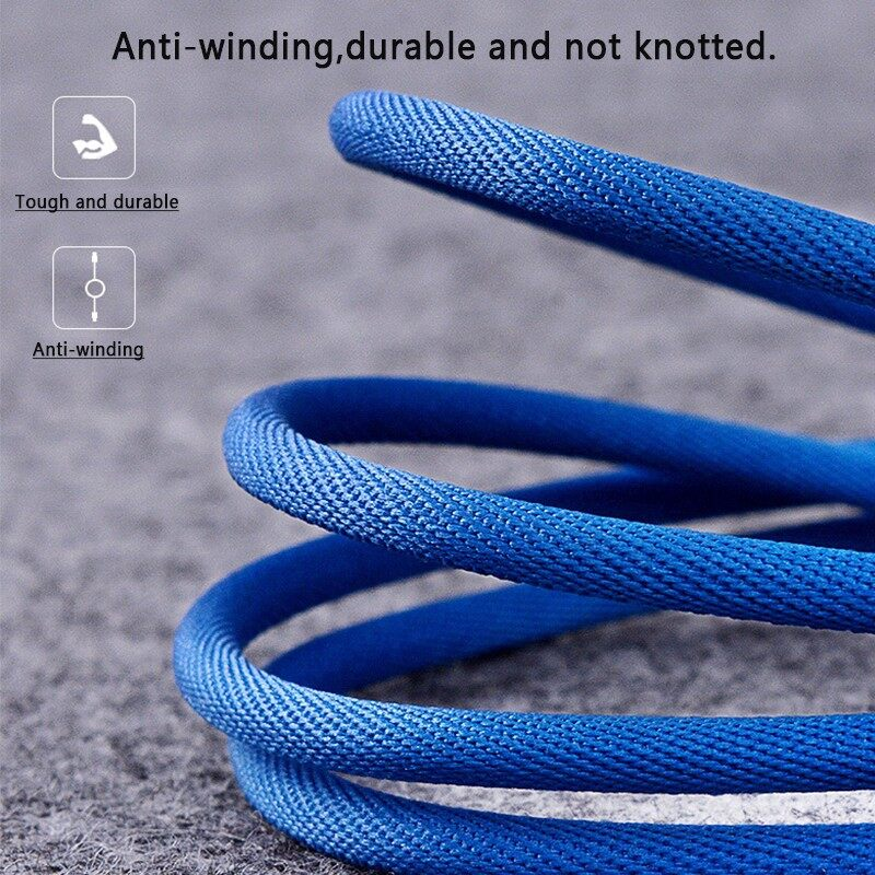 Mobile Cable & Chargers - 0.25/1M/2M 2.4A Double Elbow Nylon Braided Micro USB Cable for Smartphone - 2M / 1M