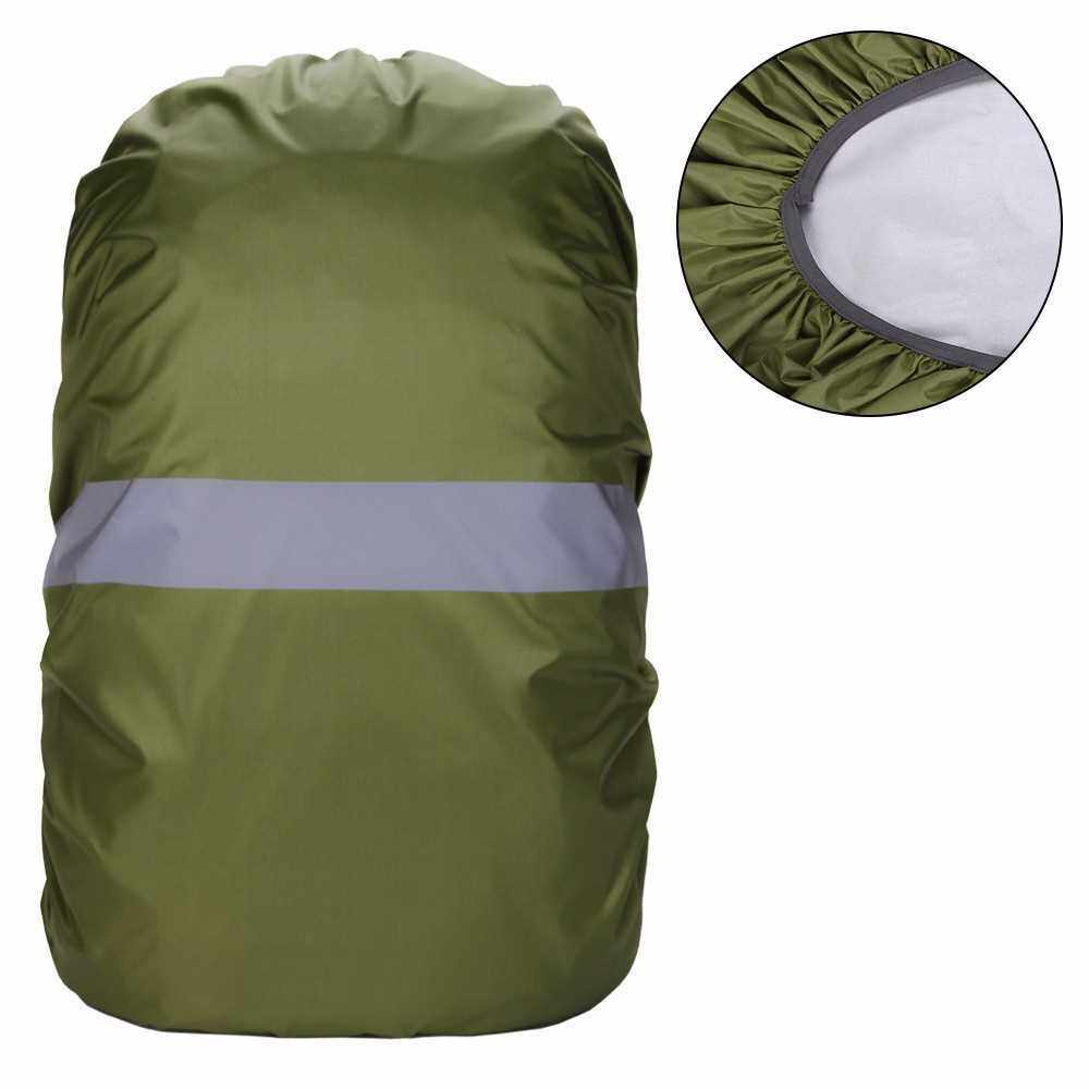 Backpack Cover with Reflective Strip Women Men Waterproof Bag Rain Cover For Cycling Camping Hiking Mountaineering (Army Green)