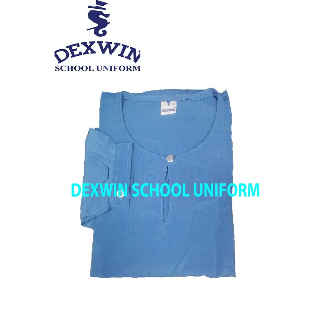 DEXWIN SECONDARY BLUE BAJU KURUNG LENGAN CEKAK