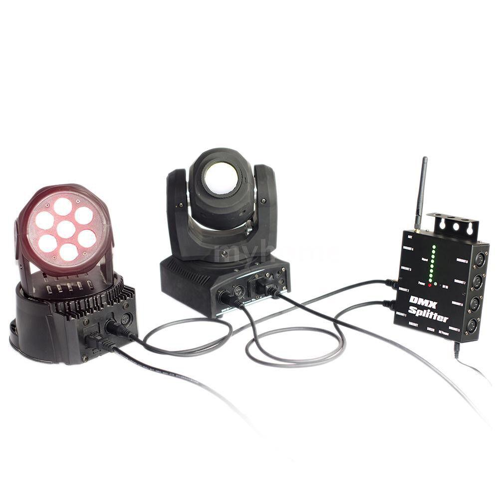 Lighting - Optical Splitter 8 Channels DMX512 WIRELESS Distribution Amplifier for Party DJ Show Club Disco KTV - Home & Living