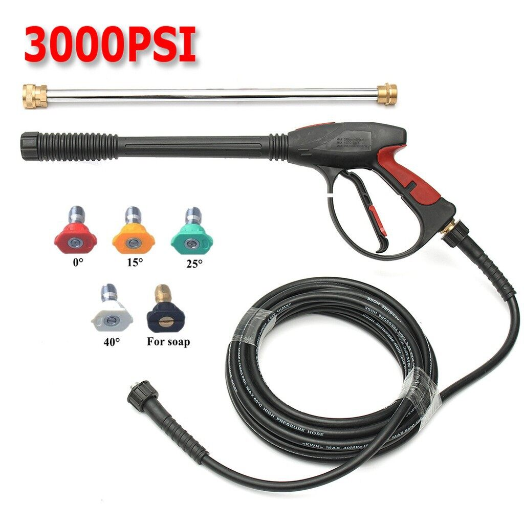 Cleaning Equipment - 3000/4000PSI High Pressure Car Washer Power Water Spray Wand/Lance Tips Kit - Car Care