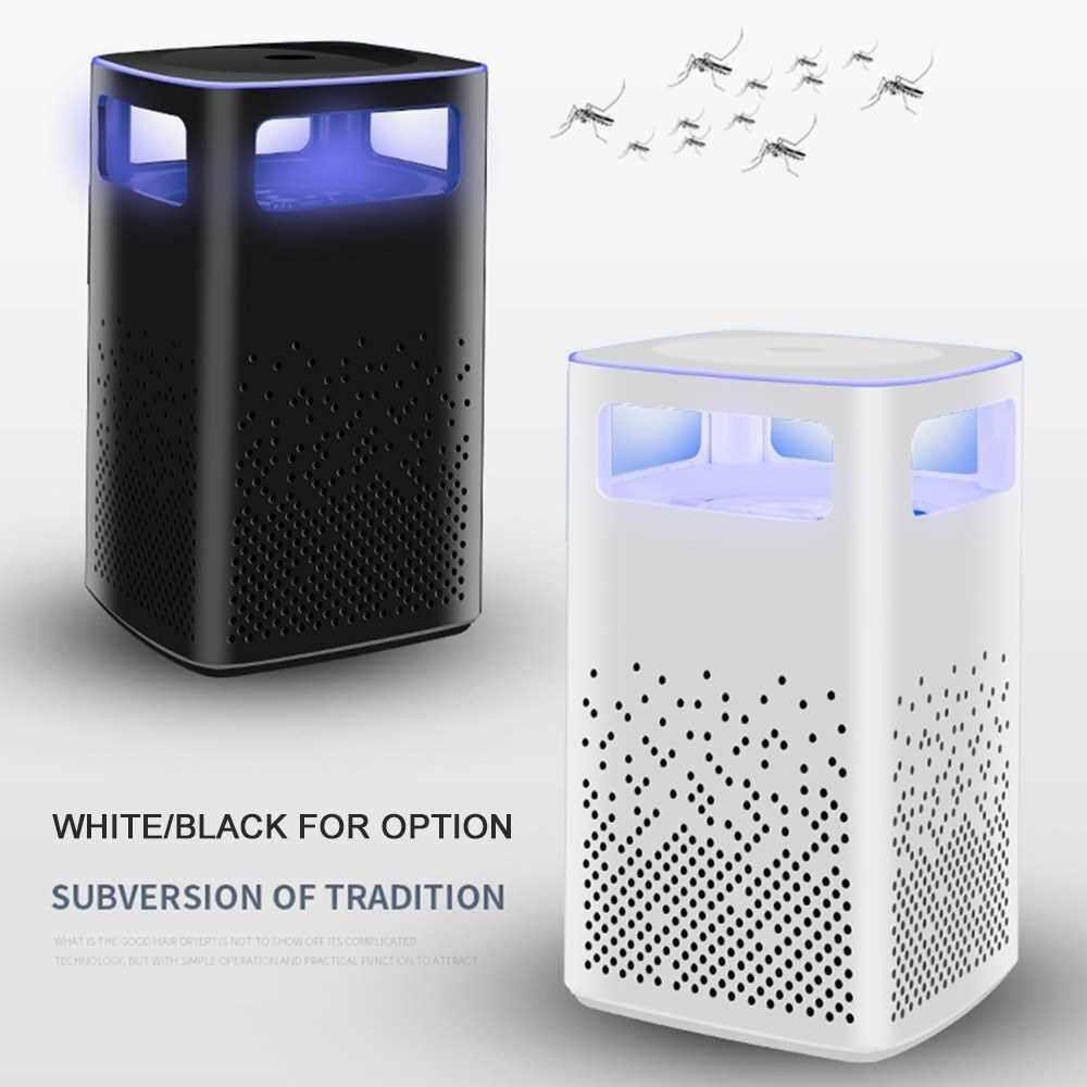 Electric Mosquito Killer USB Powered Mosquito Killing Lamp Bug Zapper Trap Lamp Eco-Friendly Inhalation Mute Insect-Repelling Lamp for Household, Office (Black)