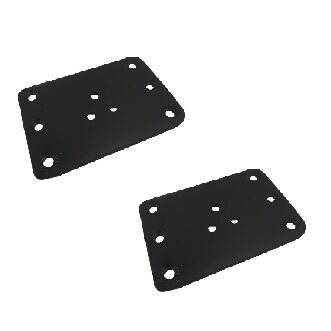 Qunic 2PCS Sofa Leg Steel Plate Connector Black Finished