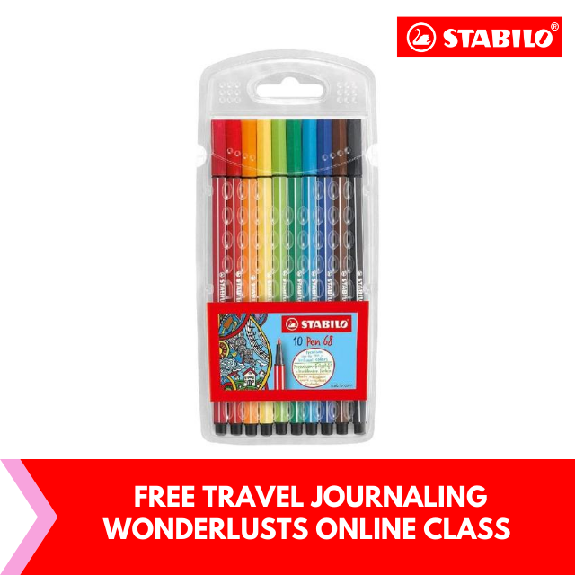 FREE Travel Journaling for Wanderlusts : STABILO Pen 68 Set of 10 Marking Highlighter Pen and Text Markers