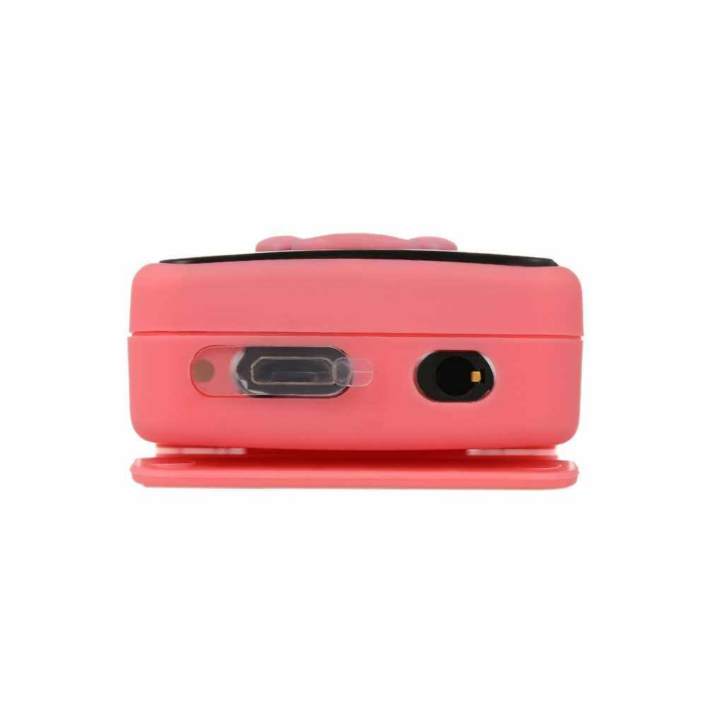 IPX7 Waterproof MP3 Player 4GB Music Player with Headphones FM Radio for Swimming Running Diving Support Pedometer (Pink)