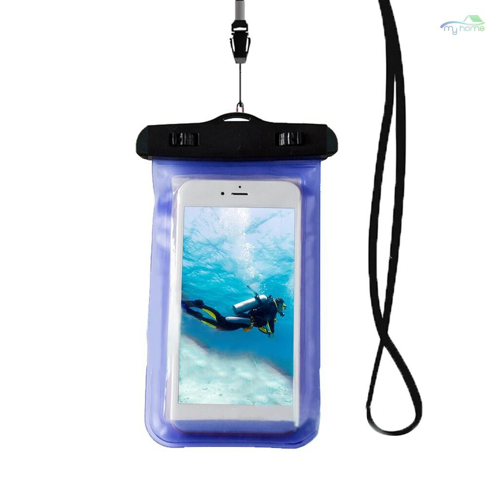 Cases & Covers - Universal Waterprooof Smart Phone Bag Cellphone Dry Bags for All Phones - LIGHT PURPLE / DARK PURPLE / RED / BLUE / ORANGE / GREEN / PINK / BLACK / YELLOW / WHITE